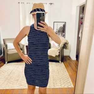 Splendid Navy Tank Striped Knit Dress Size XS